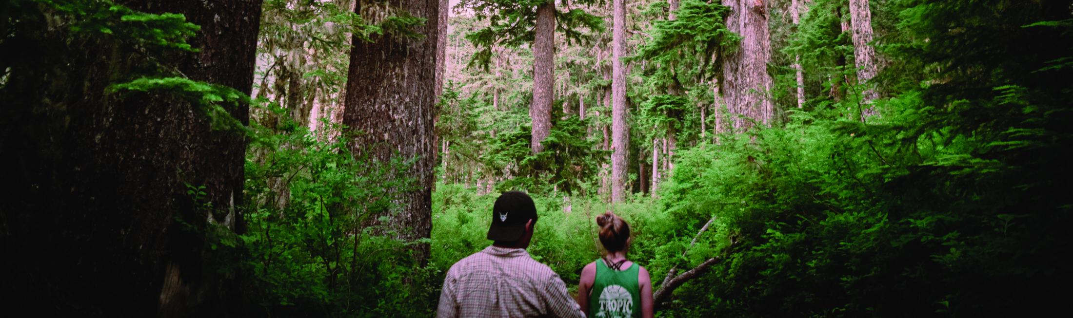 kaksi nuorta metsässä